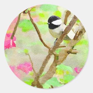 桜の《鳥》アメリカゴガラ ラウンドシール