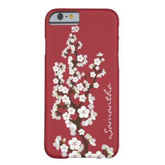 桜のiPhone6ケース(赤い) Barely There iPhone 6 ケース