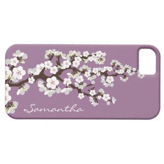桜のiPhone 5の穹窖の箱(薄紫) iPhone SE/5/5s ケース