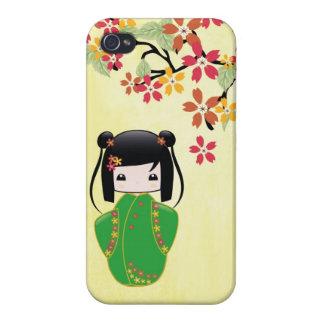桜のKokeshiの人形、iPhoneの場合 iPhone 4/4S Cover