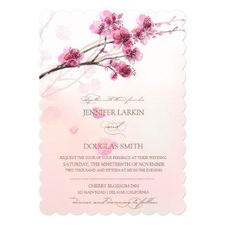 桜または桜の結婚式招待状 カード