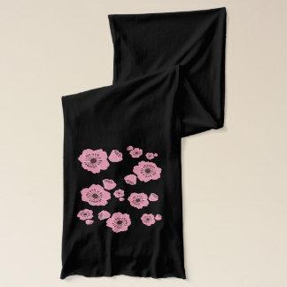 桜パターンジャージーのピンクのスカーフ スカーフ