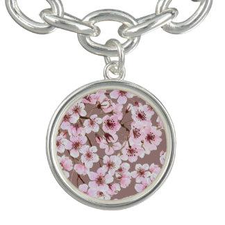 桜パターン チャームブレスレット