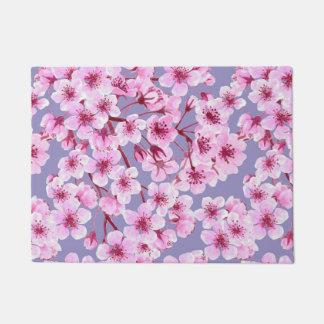 桜パターン ドアマット