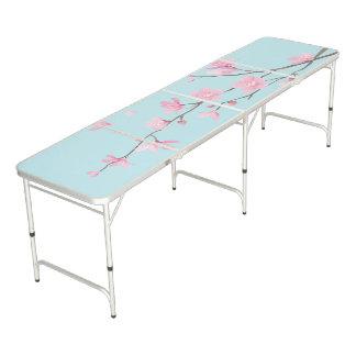 桜-スカイブルー ビアポンテーブル