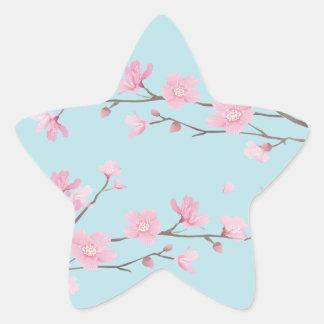 桜-スカイブルー 星シール