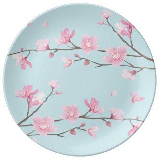 桜-スカイブルー 磁器プレート