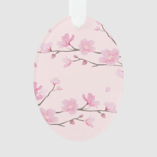 桜-ピンク-ハッピーバースデー オーナメント