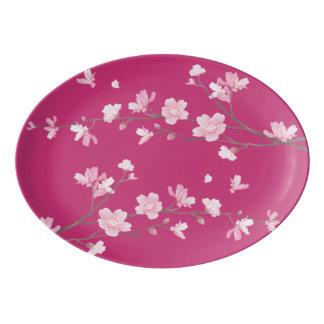桜-マゼンタ 磁器大皿