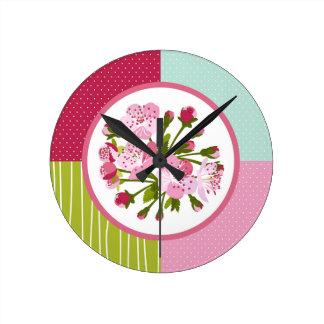桜 ラウンド壁時計