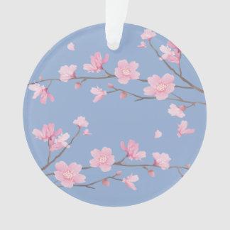 桜-平静の青ハッピーバースデー オーナメント