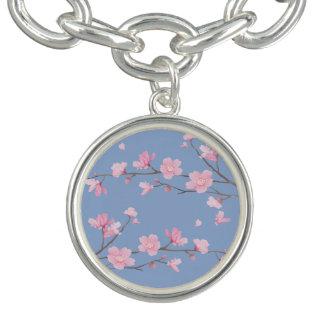 桜-平静の青 チャームブレス