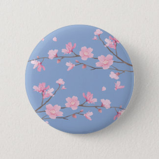 桜-平静の青 5.7CM 丸型バッジ