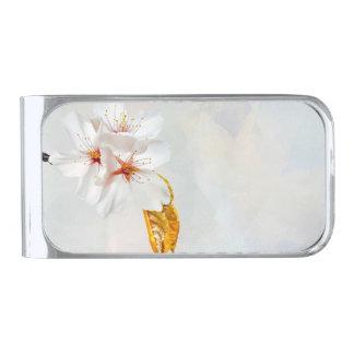 桜-日本のな桜 銀色 マネークリップ