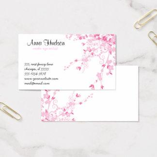 桜、桜の花-ピンクの白 名刺
