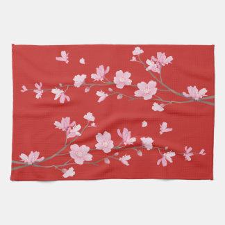 桜-赤 キッチンタオル