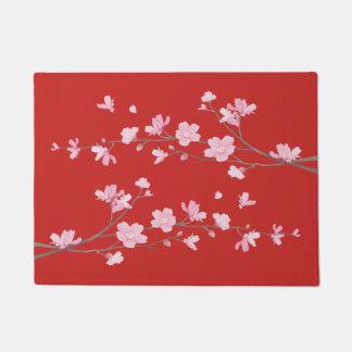 桜-赤 ドアマット
