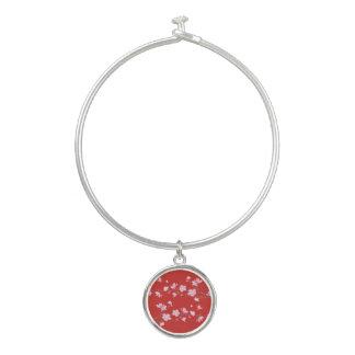 桜-赤 バングルブレスレット