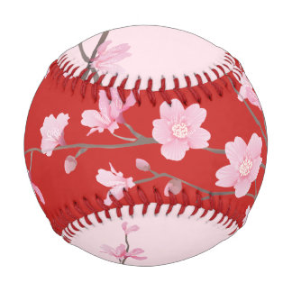 桜-赤 野球ボール