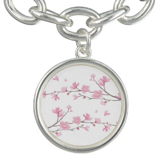 桜-透明な背景 チャームブレスレット
