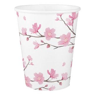 桜-透明な背景 紙コップ