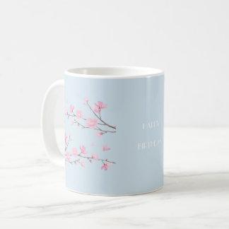 桜-透明幸せな誕生日 コーヒーマグカップ