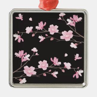 桜-黒 メタルオーナメント