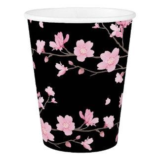 桜-黒 紙コップ