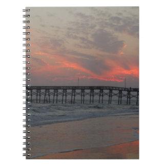 桟橋および日没-カシの島、NC ノートブック