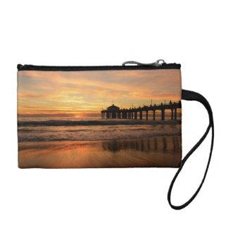 桟橋のビーチの日没 コインパース