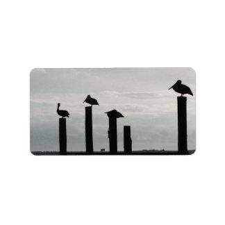 桟橋のペリカン ラベル