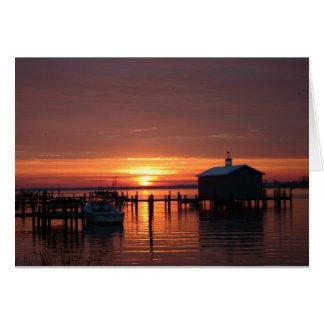 桟橋の日の出 カード