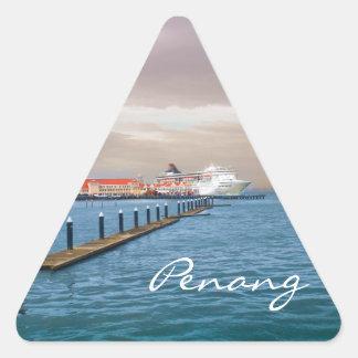 桟橋の遊航船 三角形シール