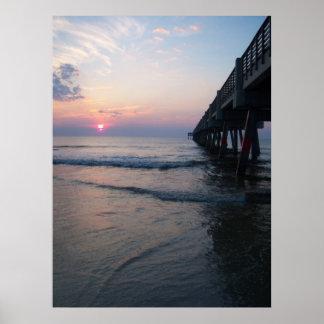 桟橋ポスターによる日の出 ポスター