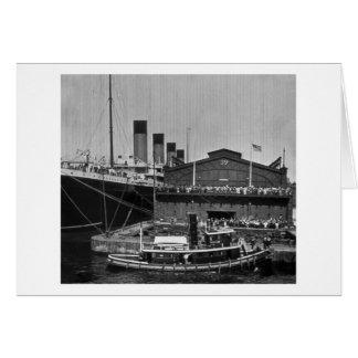 桟橋59のヴィンテージのスライドガラス1911年でオリンピックRMS カード