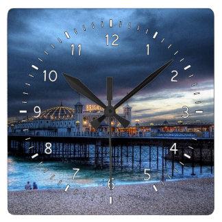 桟橋 スクエア壁時計