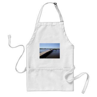 桟橋、塩性湿地、Nantucketの島 スタンダードエプロン