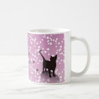 梅と猫 マグカップ コーヒーマグカップ