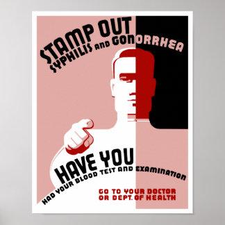 梅毒および淋病を押して下さい -- WPA ポスター