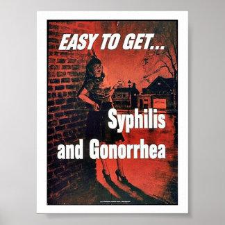 梅毒および淋病 ポスター