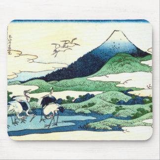 梅沢、Umezawa、Hokusai、Ukiyo-eからの北斎の眺め富士山 マウスパッド