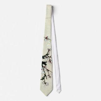 梅花、北斎のプラムは、Hokusai、Ukiyo-e活気付きます オリジナルネクタイ