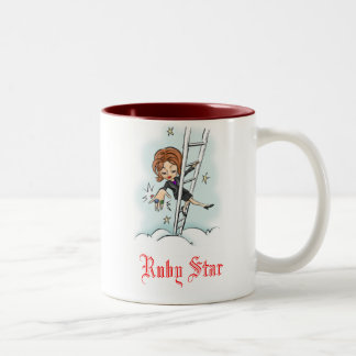 梯子のルビーの星 ツートーンマグカップ