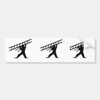 梯子の忍者3-up バンパーステッカー