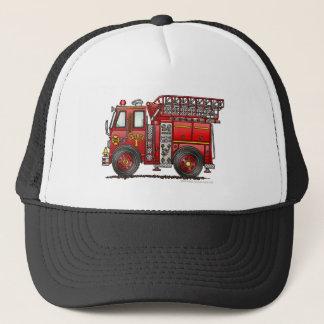 梯子の普通消防車の消防士 キャップ