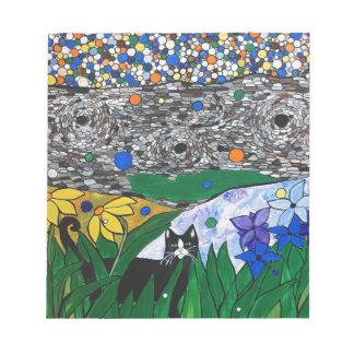 棍棒猫および彼の秘密庭 ノートパッド