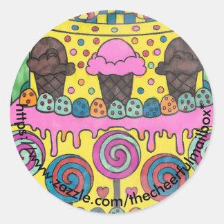 棒つきキャンデーの円形のステッカー ラウンドシール
