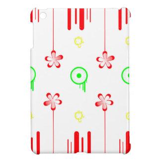 棒つきキャンデーの赤の花 iPad MINIケース