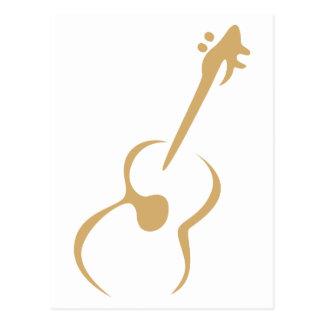 棒のスケッチのスタイルのクラシックなギター ポストカード