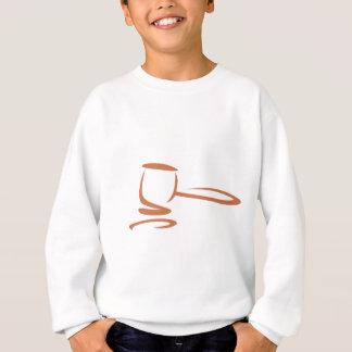 棒のスケッチのスタイルの裁判官を表す槌 スウェットシャツ